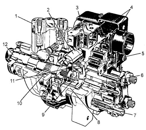 ...Схема системы автоматического управления EPIC дизеля с непосредственным впрыскиванием топлива и турбонаддувом, с...